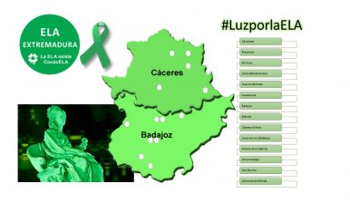 21 de Junio. Día Mundial contra la #ELA. Extremadura se iluminará de color VERDE ESPERANZA